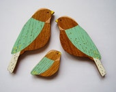 Wooden Wall Birds - ONE BABY Family Sets - Mother's Day Gift