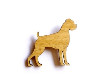 Boxer Dog Brooch laser cut canine