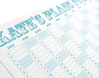 Personalised Carnival Wall Calendar/Study Planner