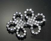 FREE SHIP-  Rhinestone clasp,butterfly bow clasp,wedding dress rhinestone crystal clasp closure,crystal clasp,sash clasp closure button