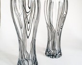 Hand-painted pilsner glass