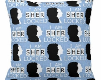 I AM SHERLOCKED Fandom Inspired Geek Pillow Cover