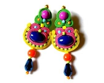 Soutache Earrings - Eryka