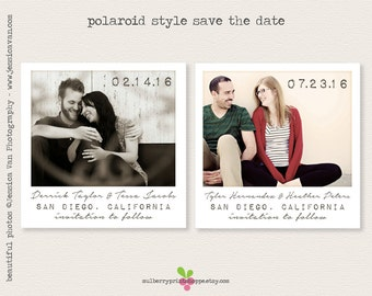 Save the Date - Photo Wedding Announcement - Printable or Printed Cards or Magnets - Colors Changeable
