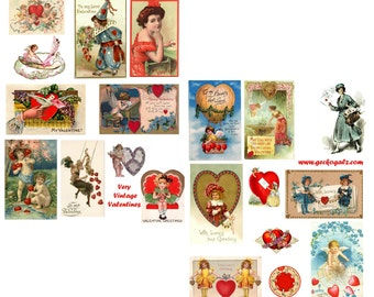 Very Vintage Valentine Collage Set