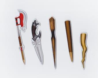 Buffy Weapon Magnet Set