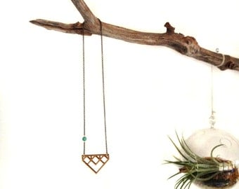 Gifts for her under 50, Geometric Wood Necklace, Laser Cut Wood Necklace, Boho Necklace, Tribal Necklace, Minimalist Modern Necklace