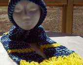 Sky Line Hat and Scarf Set
