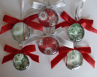Christmas Ornaments:  Snow and Ivy