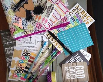 Bible Journaling Kit- Supplies and Zipper Pouch