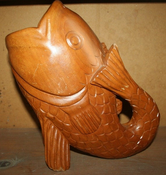 Wow on sale today vintage fish water pitcher by indiatrade - Gurgling water pitcher ...