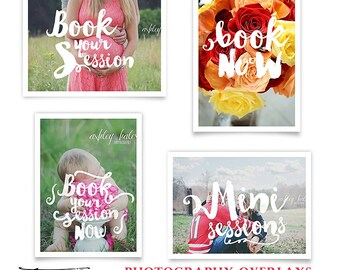 Photography Marketing Overlays, Mini Session, Booking Photo Overlays, INSTANT DOWNLOAD