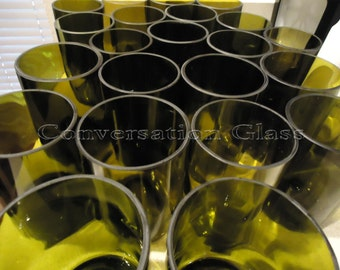 Attention Candle Crafters! Wine Bottle Glass Bottoms  Set of 9