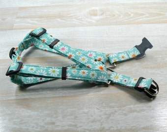 Dog Harness, Step in Dog Harness, Comfort step in dog harness, floral dog harness