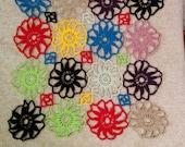 Beautiful Coaster Multi color Lace  table decor crochet