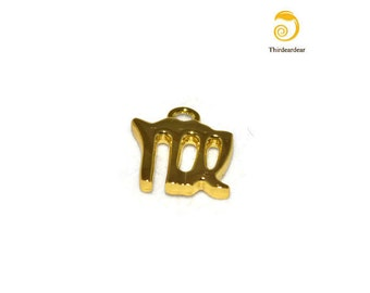 Virgo Zodiac Charm- Gold-Plated