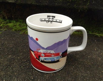 Car Themed Coffee Mug 1957 Plymouth 1985 Enesco Fathers Day 57 Heaven