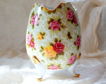 "Vintage Porcelain Vase Egg Shaped ""Formalities"" by Baum Brothers @LootByLouise"
