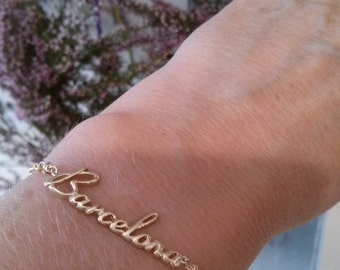 Barcelona Bracelet BARCELONA Gold Filled with Gold Filled Chain and Gold filled Lobster Clasp