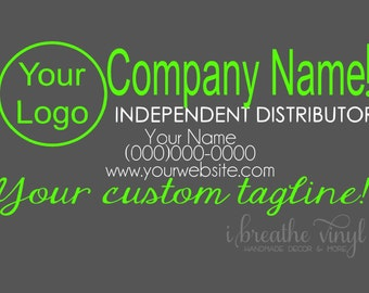 Custom Independent Distributor Car Decal - Direct Sales, Small Business