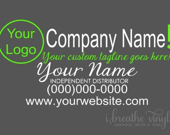 Custom Independent Wrap Distributor Car Decal - Small Business, Direct Sales