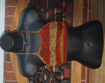 Autumn Dream Hippie Crochet  Festival Top