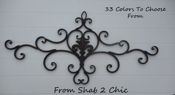 BLACK / Wrought Iron Decor / Shabby Chic / Wall By