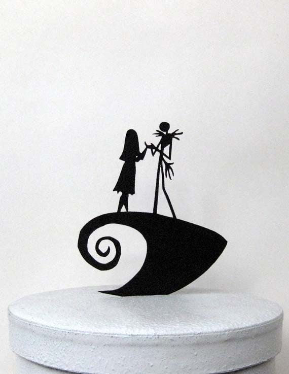 jack and sally wedding cake topper wedding cake topper the nightmare before 16559