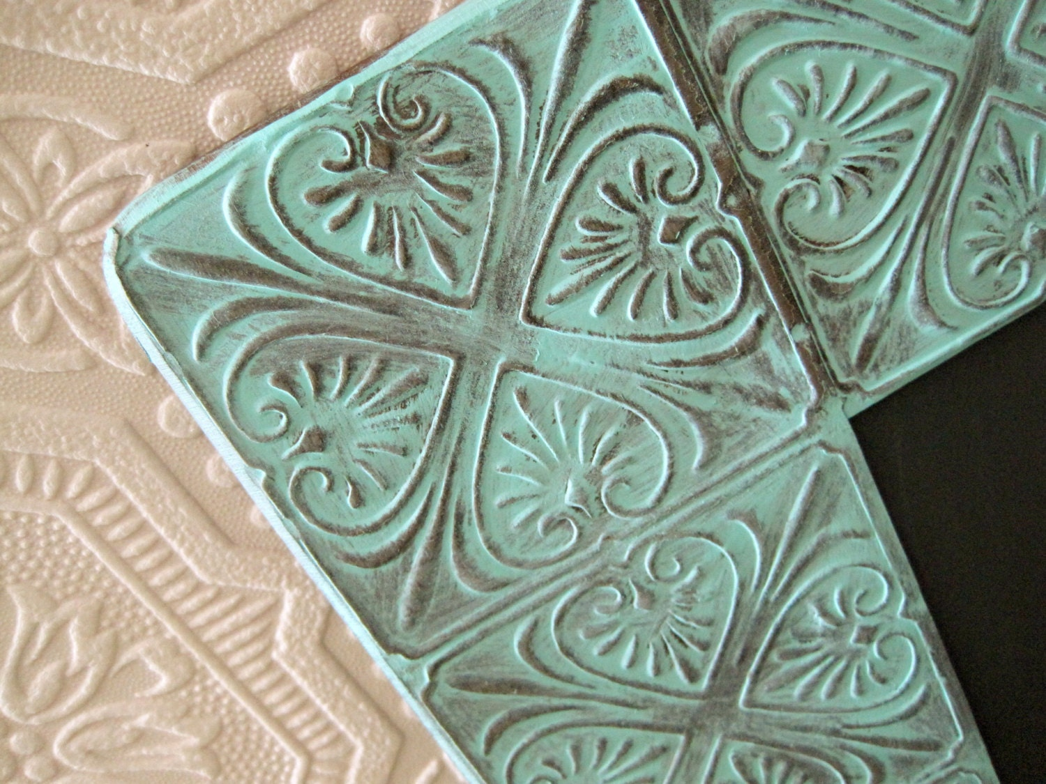 Decorative Bathroom Ceiling Tiles : Tin ceiling tile mirror decorative wall ornate bathroom