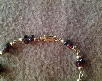 Vintage Goldtone Beaded Bracelet