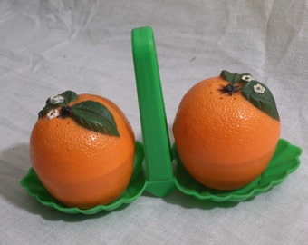 Orange Salt & Pepper Souvinir Shakers