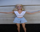 Top and shorts for Barbie