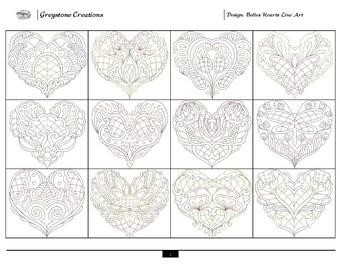 Belles Hearts Line Art Collection