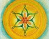 Morning Star Mandala - Original Hand-made artwork - Feng Shui painting