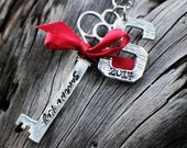 Santa's Key | Personalized Christmas Gifts | Engraved Ornament | Custom Christmas Decorations | Our First Christmas Ornament | Handstamped