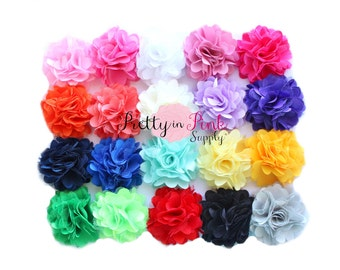 Satin Mesh Flowers- Choose Quantity- Mini Satin Mesh Flowers- Satin Flowers.Tulle Flowers...Silk Flower