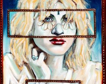 "Courtney Love Sugar Skull 8""x10"""