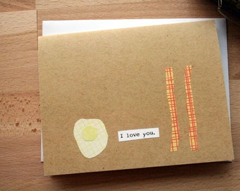 CARD: Bacon and Eggs I Love You