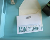 Personalized Will You Be My Bridesmaid Card, Bridesmaid Card, Maid of Honor Card, Wedding Card, Bridesmaid Proposal - Customized Name