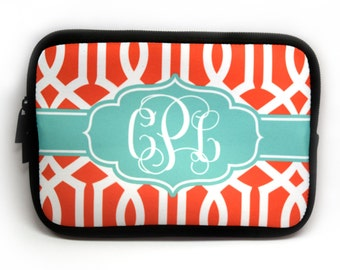 Monogrammed Cosmetic Case  Clutch | Personalized with monogram, initials or name