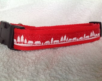 Handmade Christmas Village Dog Collar - Various Sizes