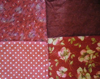 4 Piece Reds Scrap Bundle     destash 217