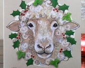 All I want for Christmas is ewe.  Funny Sheep Christmas Card blank for your own Festive message by Bethany Moore