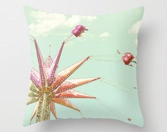 Carnival Pillow - Nursery Pillow - Swings Pillow - Fun Carnival Pillow - Pillow Carnival Swing Fair Pillow 16x16 18x18 20x20 Pillow Cover