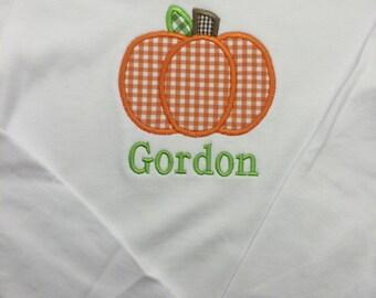 Long Sleeve Pumpkin Applique Shirt