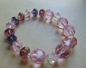 Sale Vintage Stretch Glass Bracelet