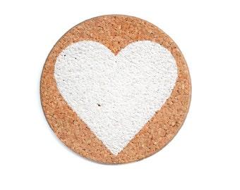Heart (cork coasters)