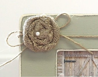 ADD ON Jute Bow w/ Tan Flower