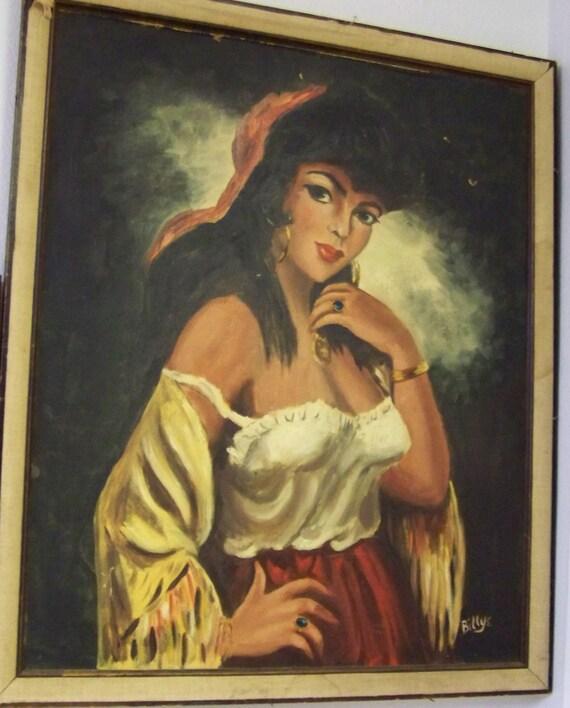 Gypsy Woman Painting Gypsy Woman Oil Painti...