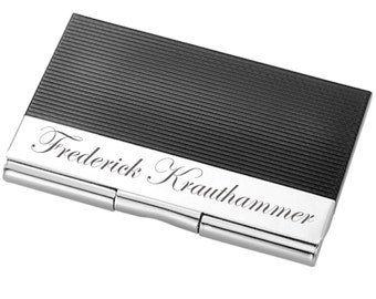 Engraved Business Card Holder, Customized Credit Card Case, Personalized Monogrammed Pocket Business Card Holder, Custom Gifts Engraved Free